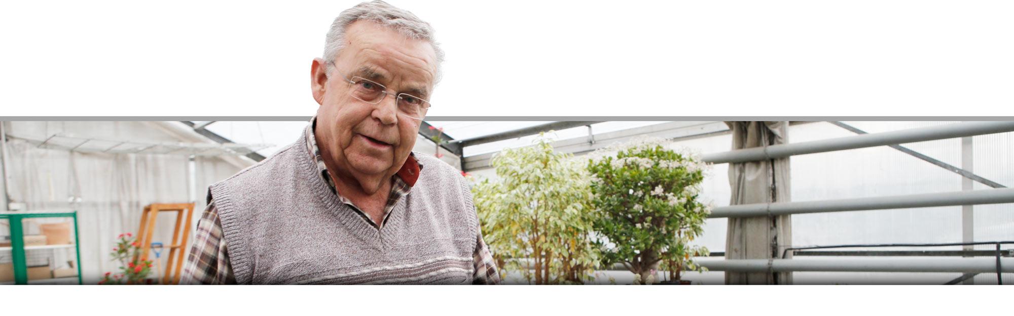 Joachim Knauf hatte lange eine Gärtnerei in Kursdorf. Er ist traurig, dass er seine Heimat verlassen muss.
