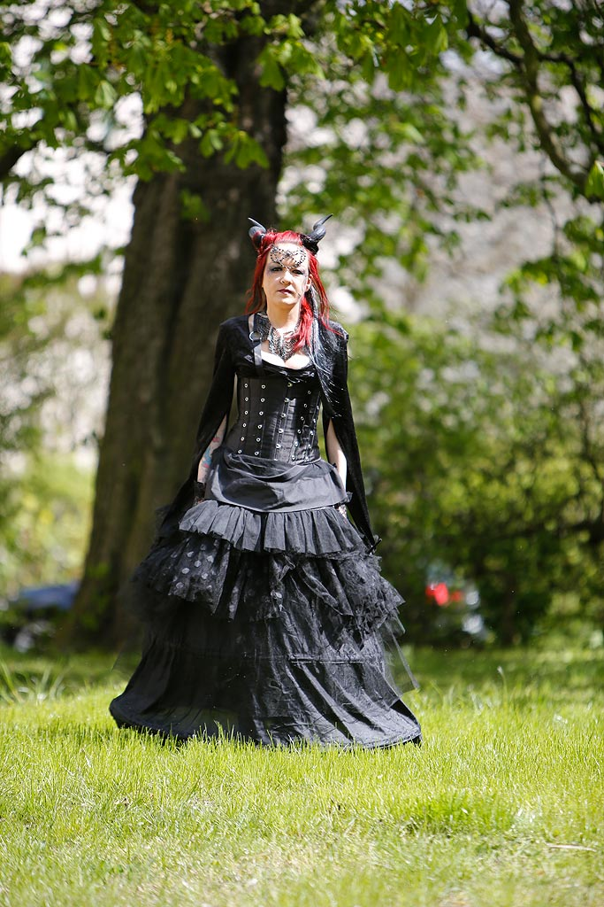Vicky Heinrich wird einmal im Jahr zu Vicktoria von Black.