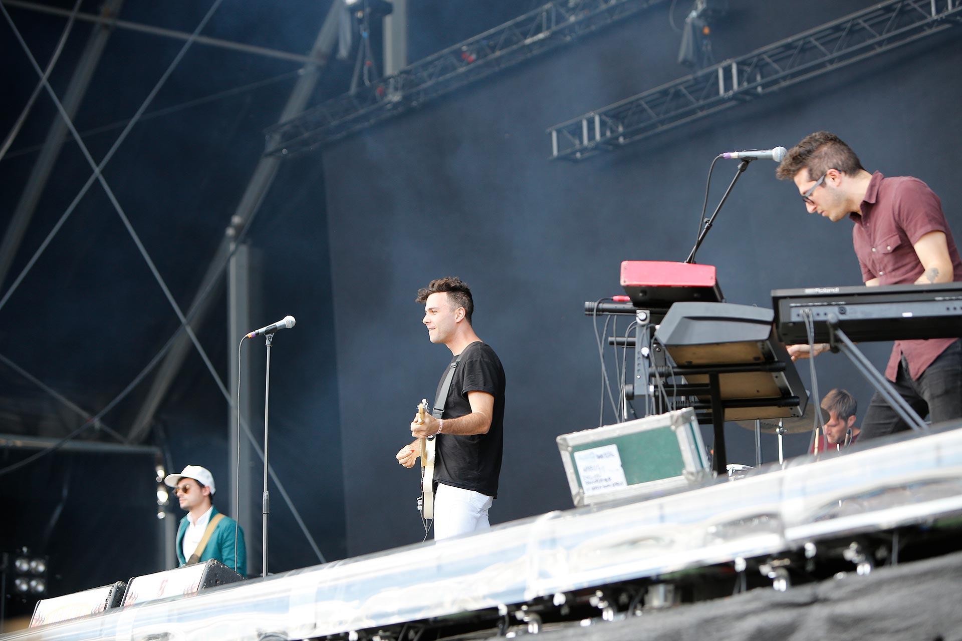 Die kanadischen Arcells rockten am Sonntag die Highfield-Bühne.