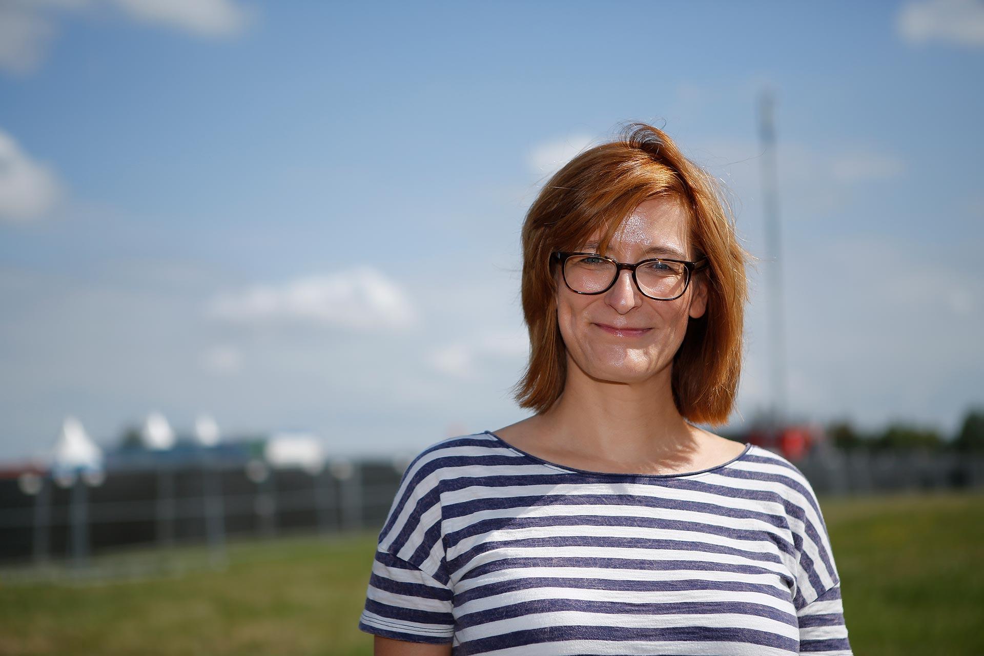 Projektleiterin Jana Göthel ist für die Organisation des Highfields zutsändig.