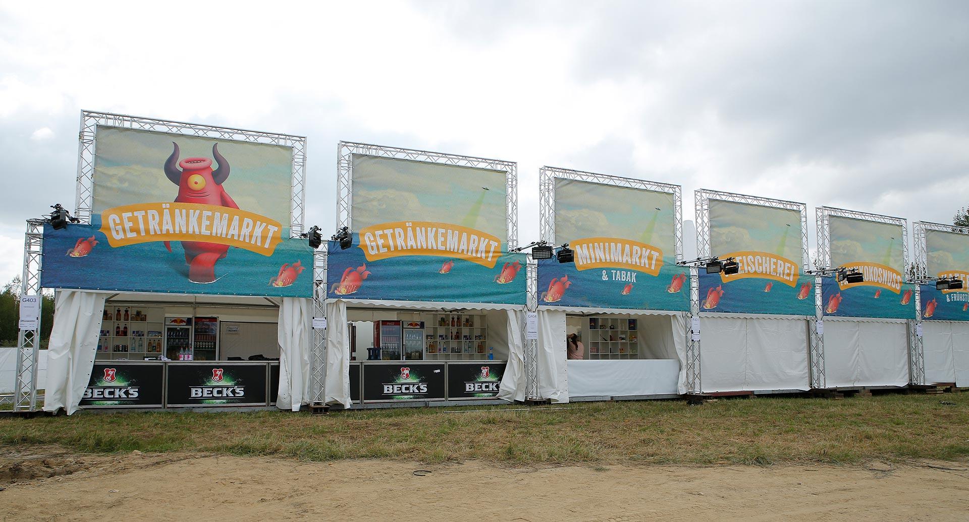 Der Mini-Supermarkt steht auf dem Campingplatz des Highfields.