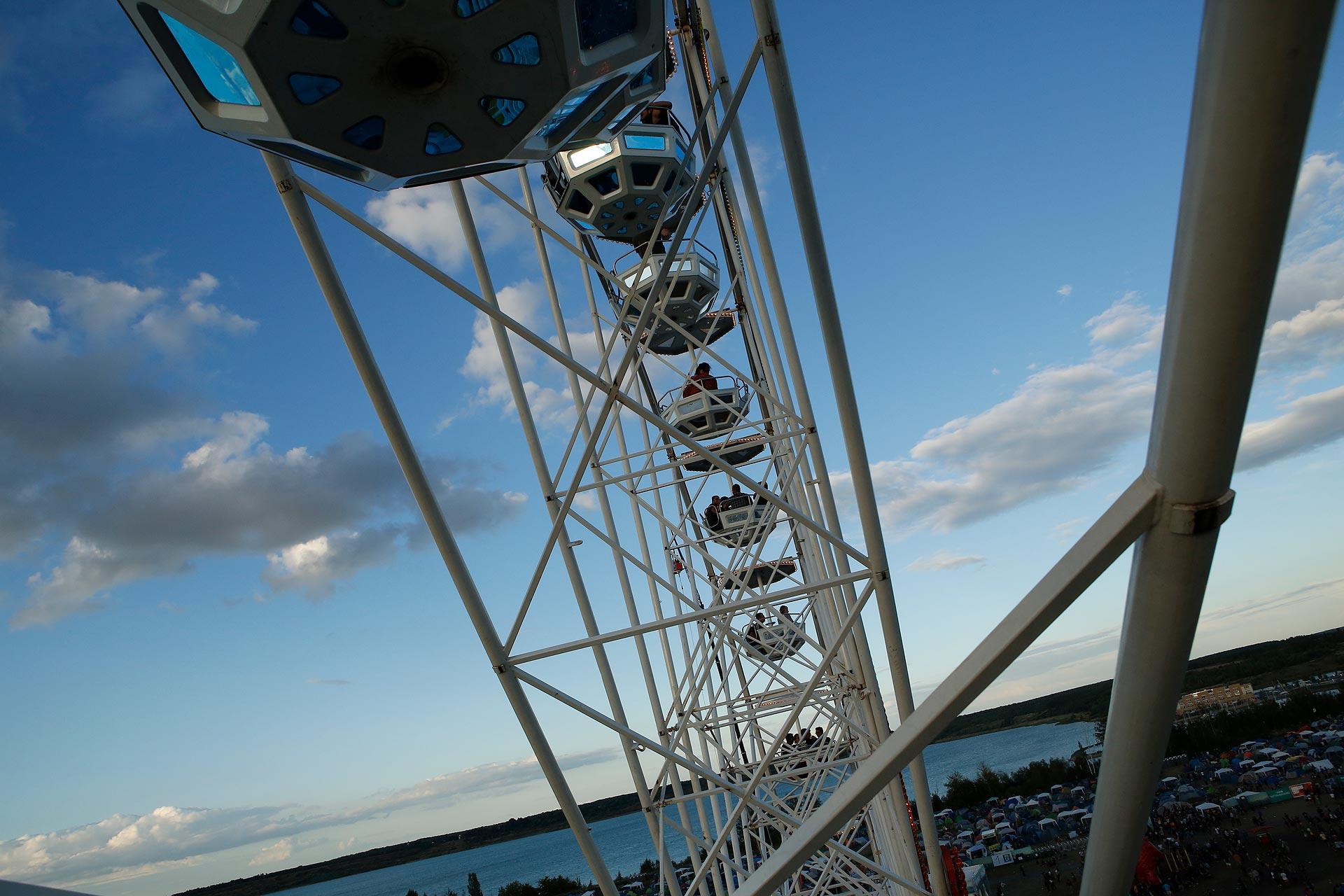 Der Blick vom Riesenrad auf das Highfield