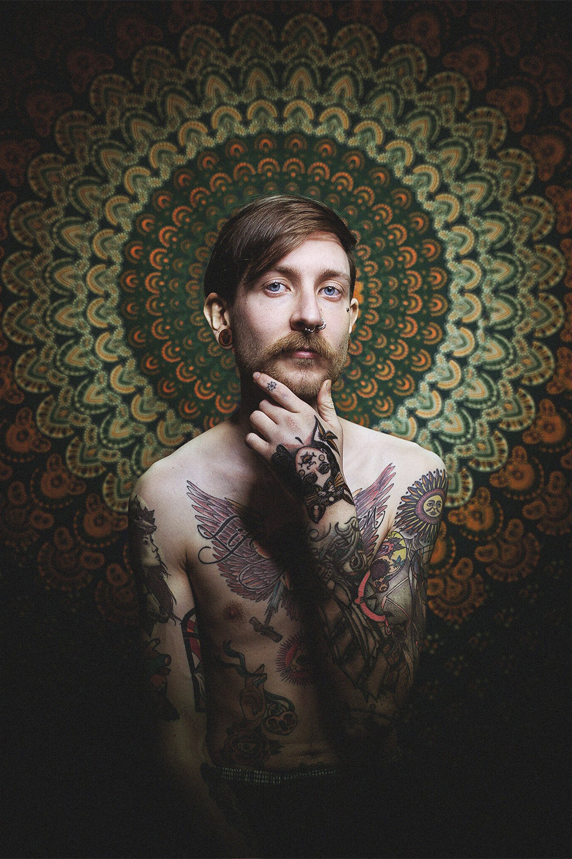 Christoph Pährisch als Tattoomodel Foto: Bryan Friedenberger Photography