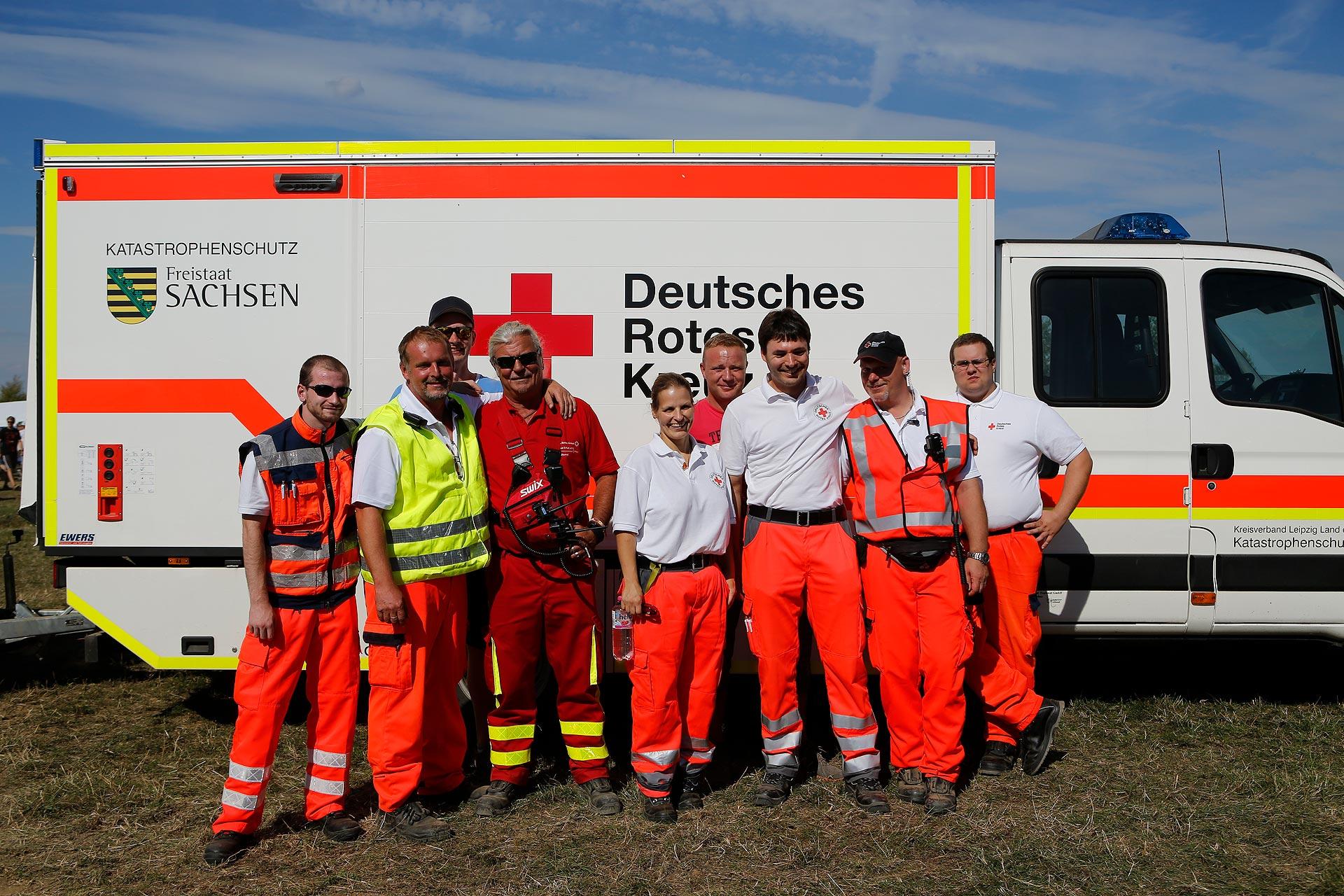 220 ehrenamtliche Helfer – Ärzte und Rettungssanitäter – sind im Einsatz, doppelt so viele wie im Vorjahr.