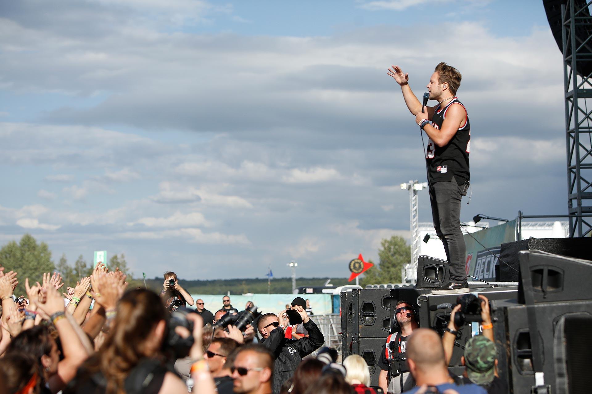Bombenstimmung herrschte auch bei der Metal-Band Emil Bulls auf dem Highfield