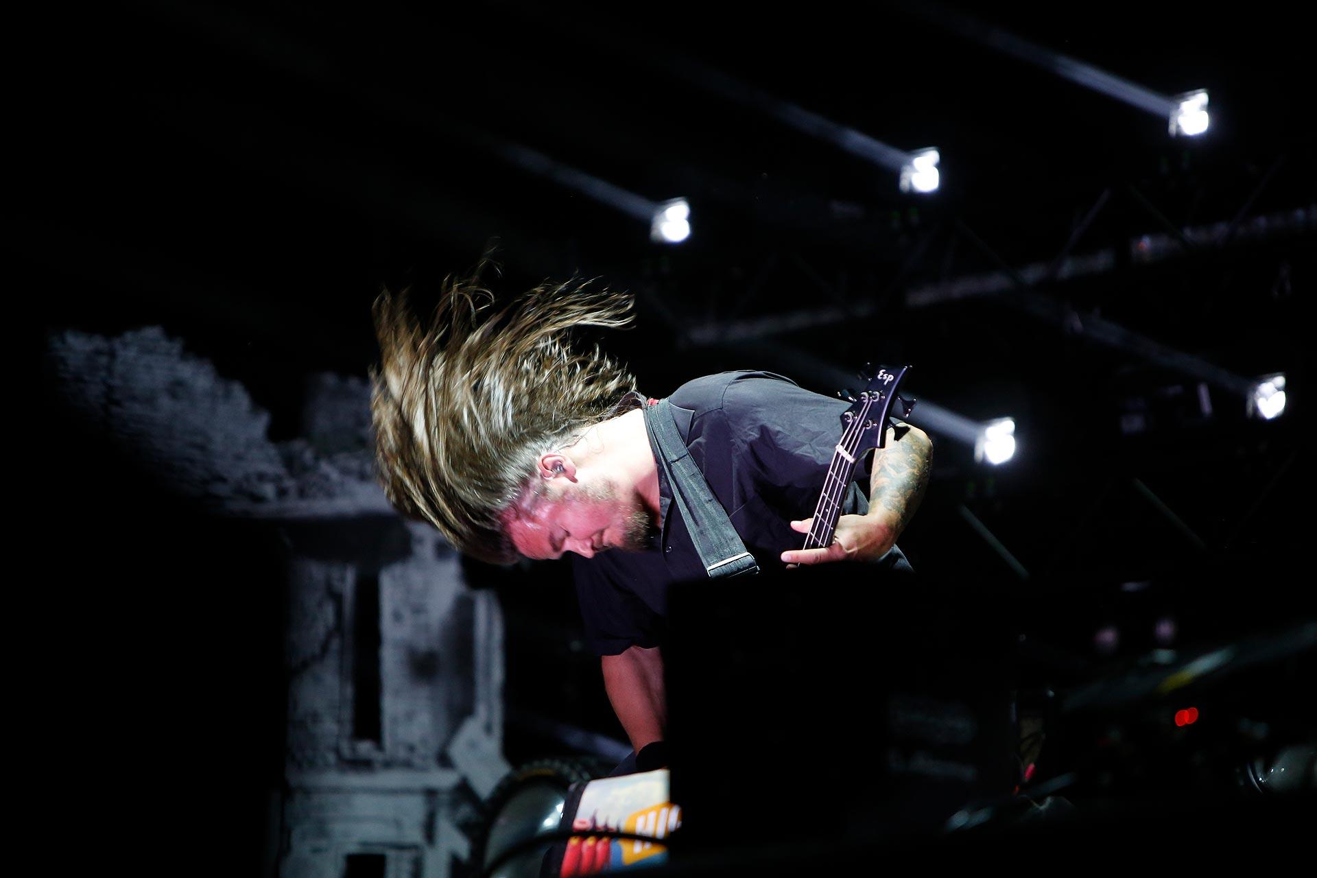 Laute Metal-Mucke gab es am Freitag beim Auftritt von Heaven Shall Burn.