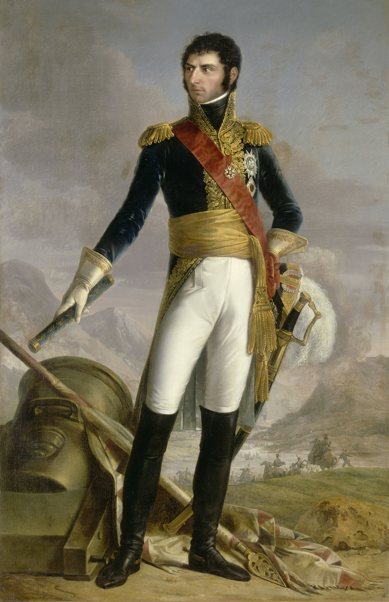 """Jean-Baptiste Bernadotte ließ sich als glühender Mitstreiter der Revolution """"La mort au roi!""""(Tod dem König) stechen."""
