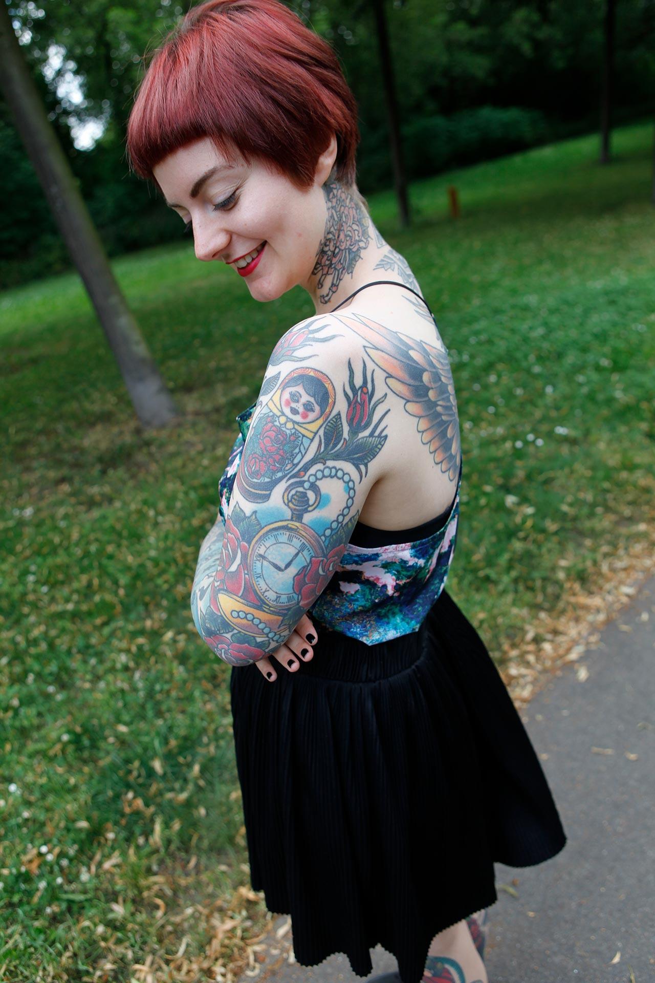 Nastassja ließ sich vor sechs Jahren ihr erstes Tattoo stechen.