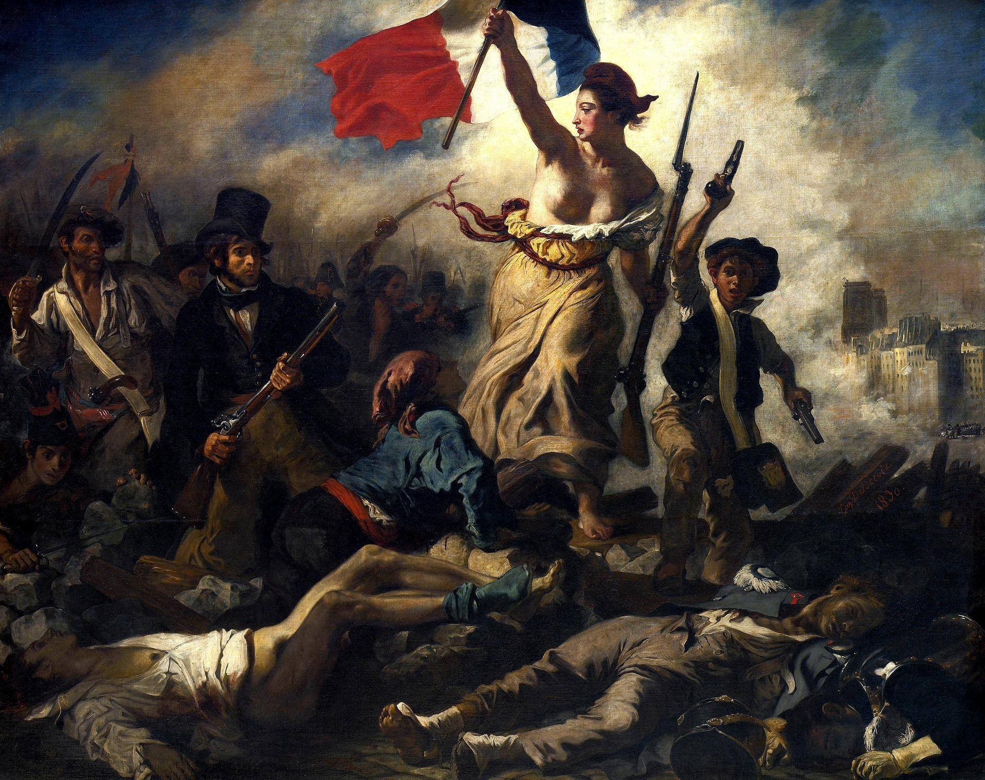 Anhänger der französischen Revolution ließen sich politische Motive stechen.