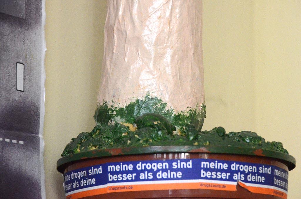 Im Büro der Leipziger Drugscouts