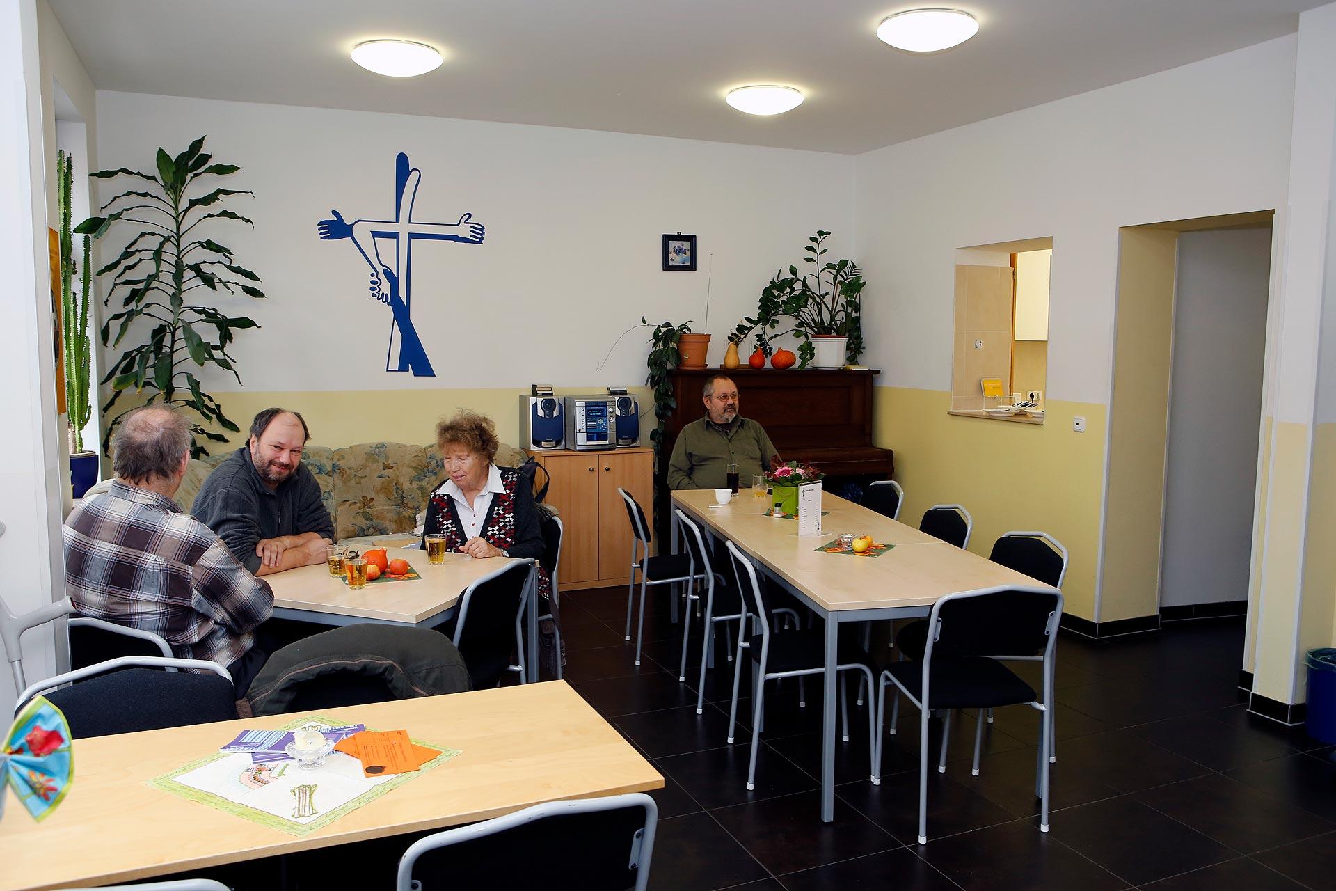 Das Blaue Café ist eine Begegnungsstätte für Drogenabhängige in Leipzig.