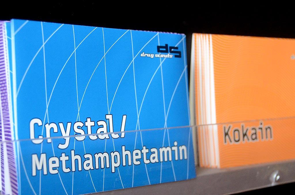 Die Leipziger Drugscouts informieren über illegale Drogen wie Crystal.