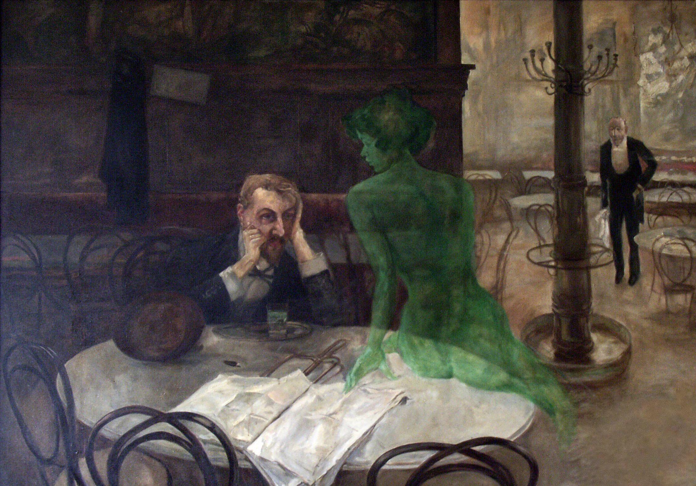 Das Nervengift Thujon verursachte Halluzinationen, wenn man früher Absinth trank.