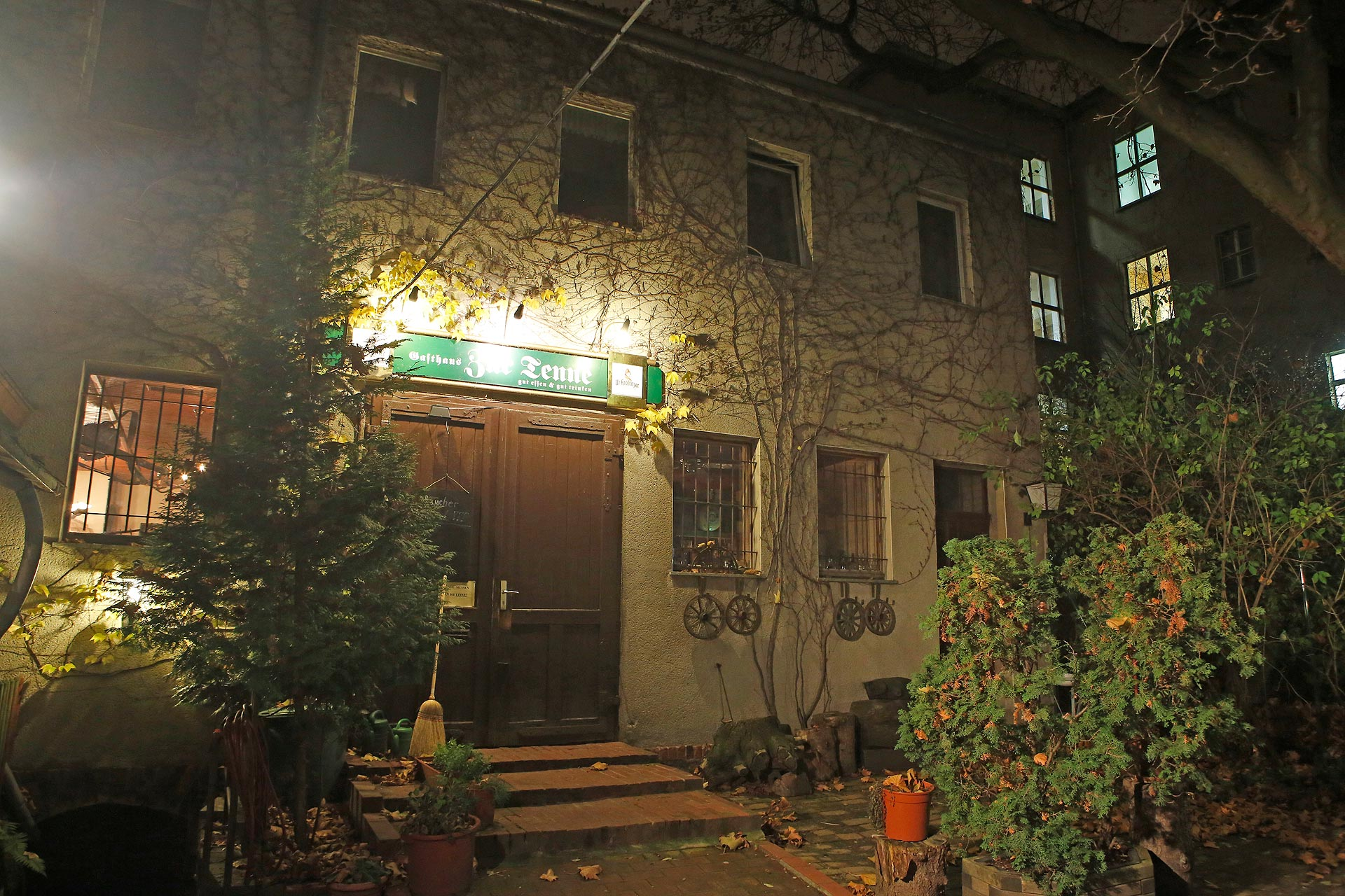 """Das Gasthaus """"Zur Tenne"""" ist eine Institution im Osten von Leipzig."""